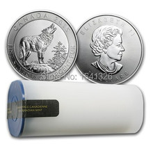 2015 NEW Canada 3/4 oz Silver Grey Wolf BU coin Elizabeth ii $2 COINS non-magnetic copy coin DHL free shipping 100 pcs/lot(China)