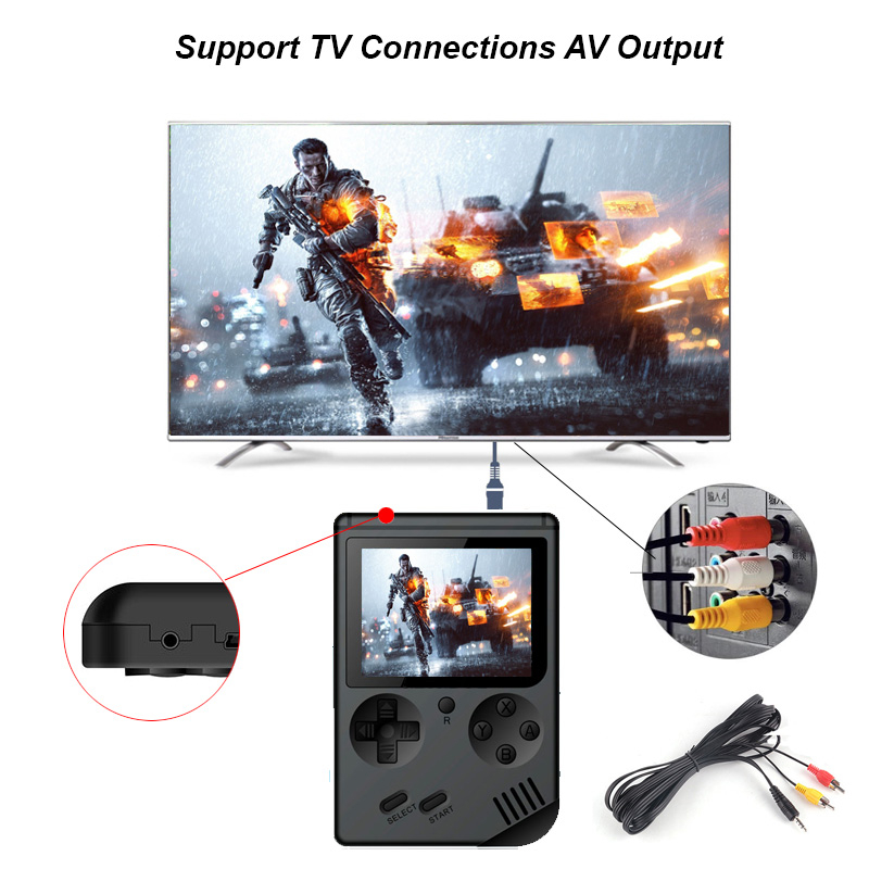 Image 3 - Mini retro classic game handheld video 168 game console 3 inch 8 bit gaming console with 168 free games-in Handheld Game Players from Consumer Electronics