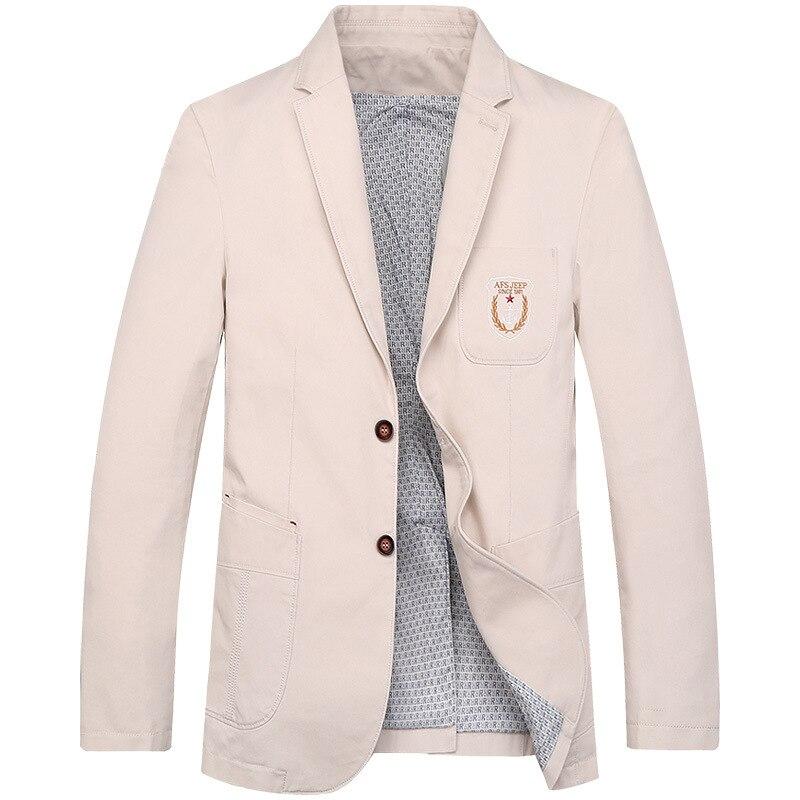 Жан di Ji ПУ Повседневное Блейзер Куртка высокое качество хлопок, вышивка Блейзер masculino jaqueta masculina S пиджак in3188 ...