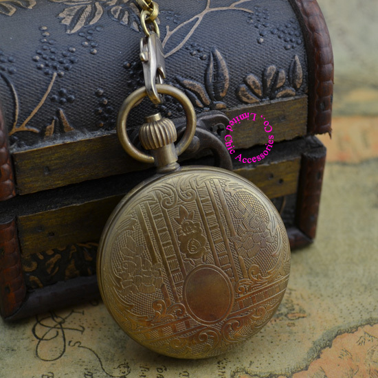 wholesale price good quality Vintaged classical classic Retro Copper 5 Hands brass MECHANICAL London POCKET WATCH