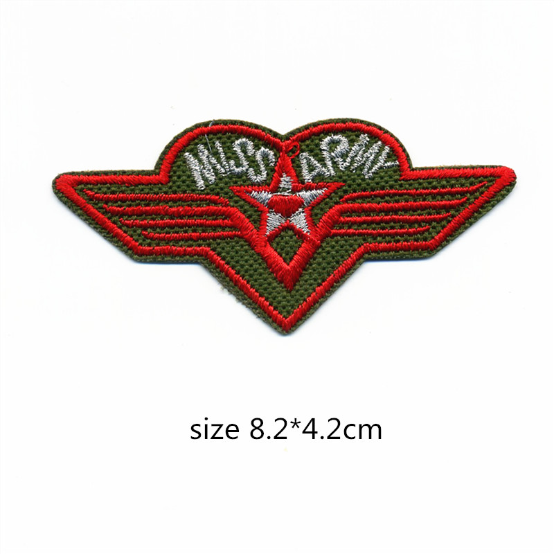 1Pcs Wings Embroidery Patch for Clothing Iron on Embroidered Sew Fabric Army Badge Garment DIY Apparel Applique Accessories in Patches from Home Garden