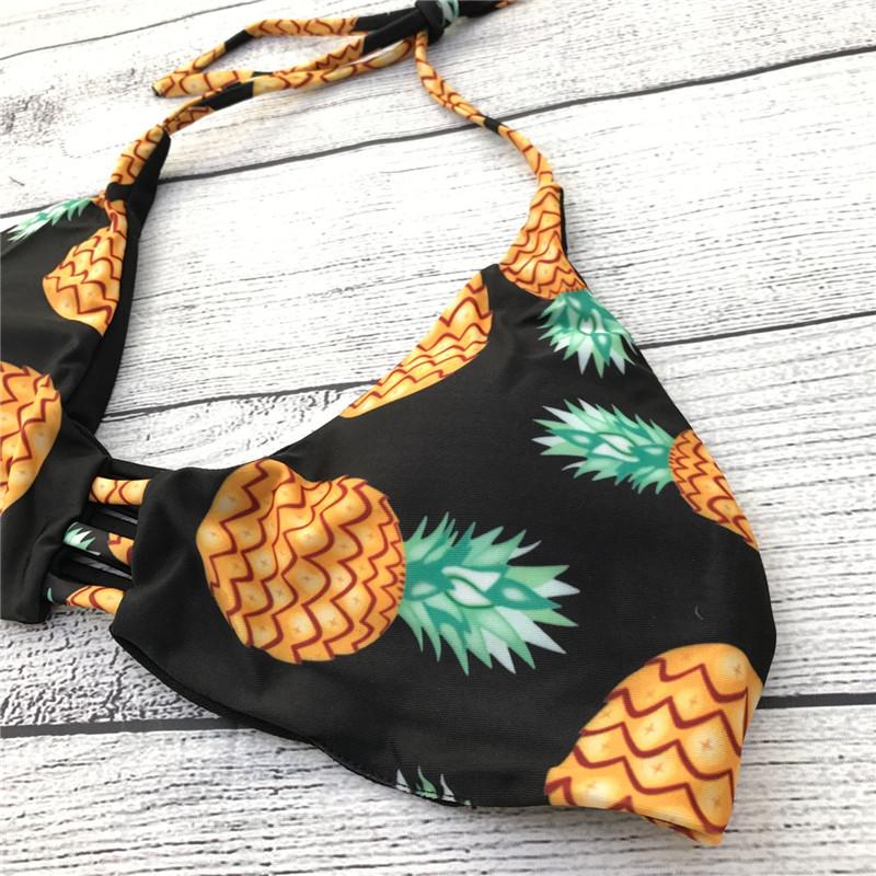 HTB1Bq16QFXXXXavXXXXq6xXFXXXy - FREE SHIPPING High Neck Halter Bikini Set Pineapple JKP296