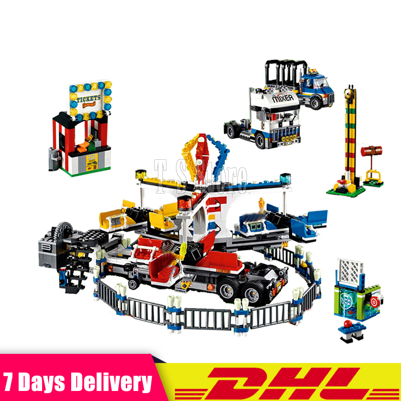 DHL IN STOCK 15014 1858pcs Amusement Park The Carnival Model Building Blocks Set Compatible 10244 Architecture Lepin Toys Gifts lepin 15014 1858pcs amusement park carnival model building kits blocks bricks creator legoinglys 10244 architecture toys gift