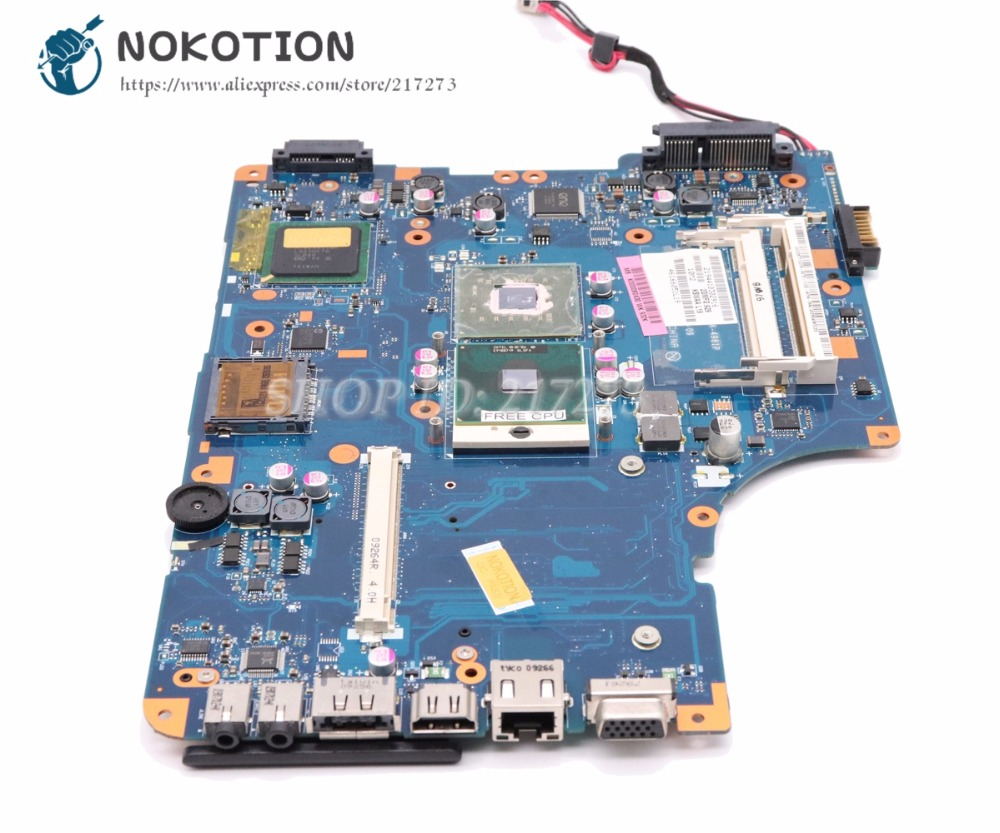 NOKOTION Laptop Motherboard For Toshiba Satellite L500 L550 Main Board K000080430 KSWAA LA-4981P Free cpu with graphics slot k000080430 kswaa la 4981p for toshiba satellite l500 laptop motherboard gm45 ddr2 with graphics slot