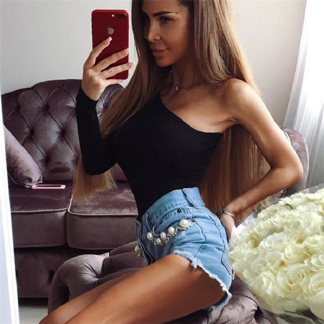 long sleeve black sexy one shoulder spring bodycon one piece body mujer bodysuit women bodies ladies 2019 streetwear clothes 1