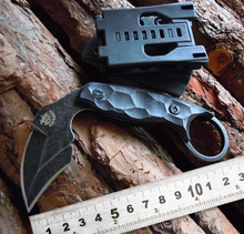 Latest style high Quality tactical Karambit knife Survival Knife AUS-8 blade hardness 58HRC Sharp Hunting camping Straight Knife