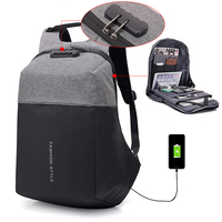 Multifunction USB Charge Anti Theft Backpack Travel Notebook Waterproof School Bags Male Mochila Leisure 15inch Laptop