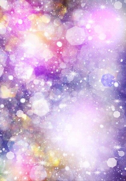 8ฟุตผ้าไวนิลสีจินตนาการโบเก้ฉากหลังถ่ายภาพแรกเกิดงาน