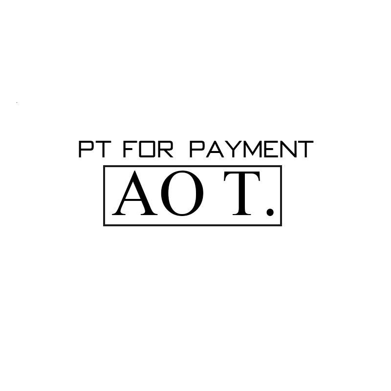 PT FOR PAYMENT(AO T.) only for sample payment