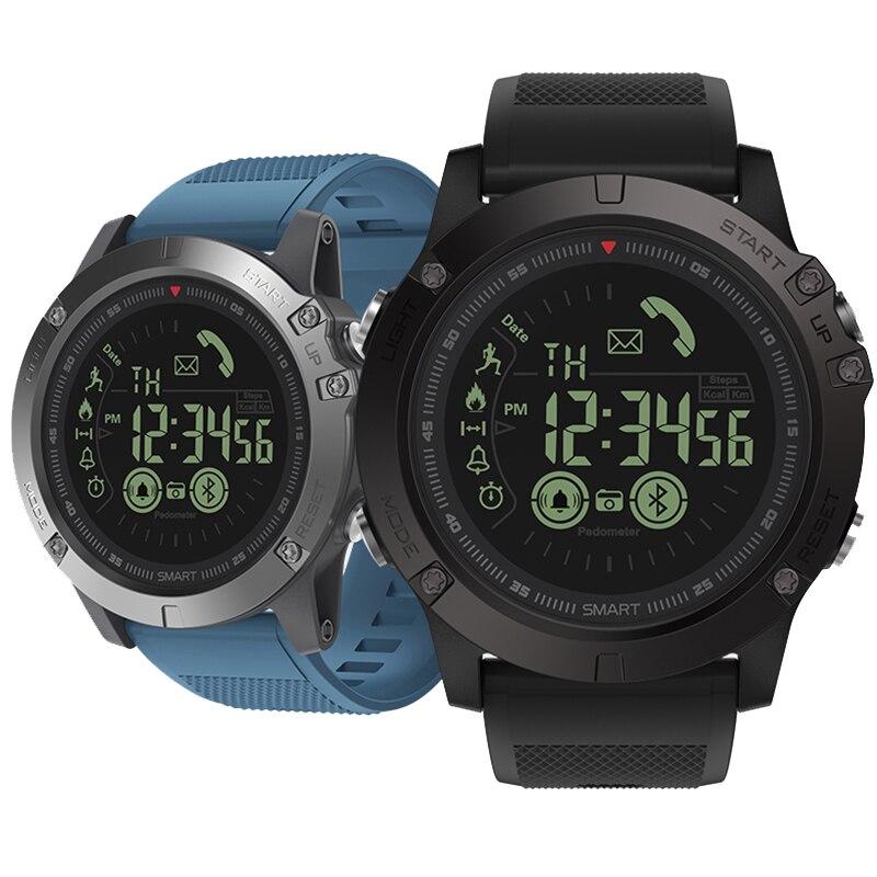 Montre intelligente hommes écran à LED étanche montres de sport hommes Smartwatch numérique multifonction Bluetooth montre-bracelet électronique bleu