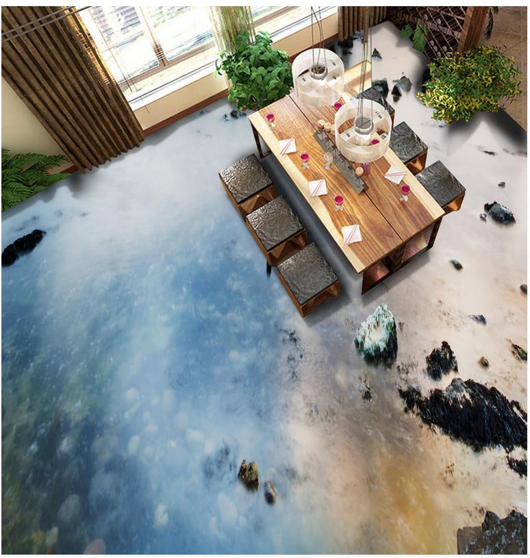 Zdjęcia Tapety 3d Stereoskopowe 3d Salon Podłoga W łazience Płytki