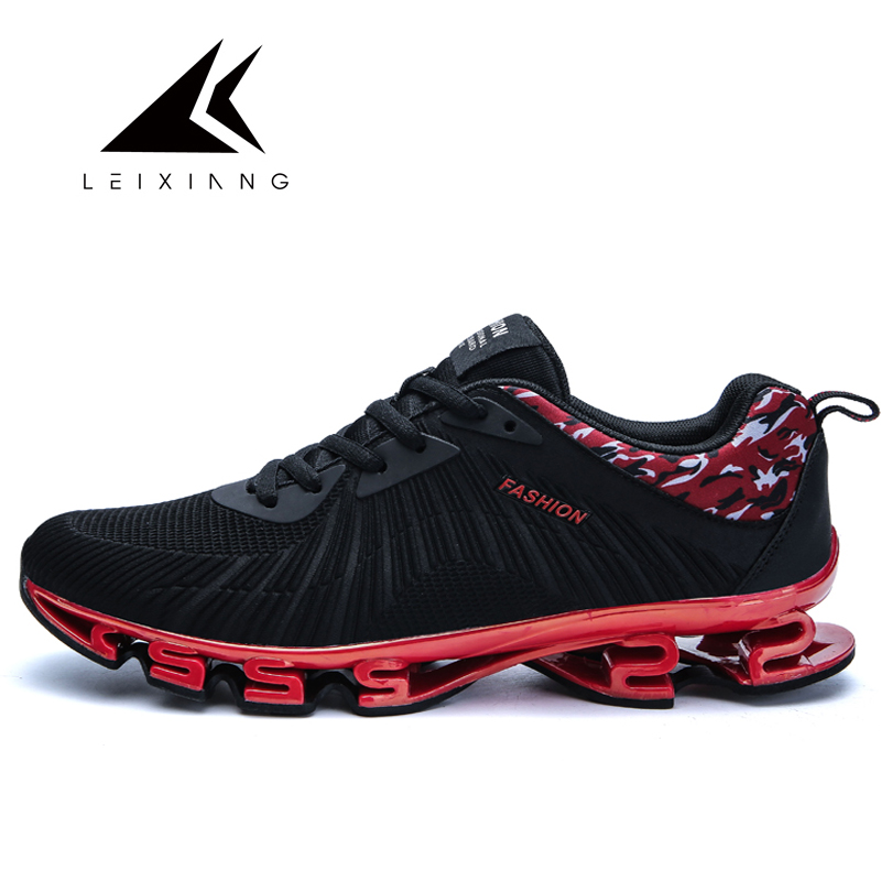 Oulan 2017 Mens Sport Running Shoes Music Rhythm Mens Sneakers Zapatillas Deportivas Breathable Mesh Outdoor Athletic Shoe