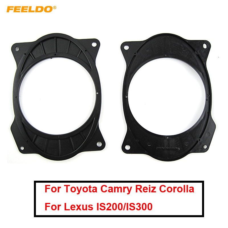 FEELDO 1Pair <font><b>Car</b></font> Speaker <font><b>Mat</b></font> for Toyota Camry Reiz Corolla 2006-2011 <font><b>Lexus</b></font> <font><b>IS200</b></font>/IS300 Solid 6*9 To 6.5