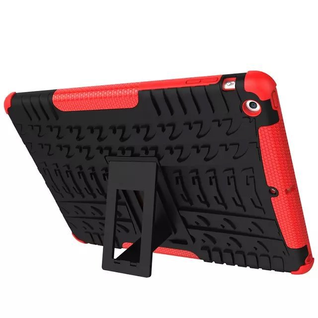 Heavy duty Defender Hybrid Armor Impact Robot Cover 2 In 1 Dual Color Rugged Hard Kit Stand Case For iPad Air 5 Shockproof Cases for apple ipad 9 7 2017 case with stand shockproof silicone hard pc heavy duty rugged armor defender cover for new ipad 9 7 2017