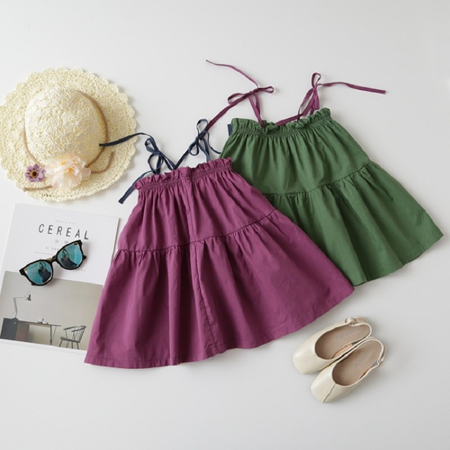 7d0916e496662 2017 New Baby Girls Slip Dress Kids Cotton Dress Children Simple Dress  Toddler Cool Dress Fashion Summer Dress