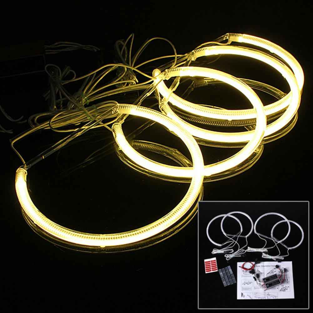 Car LED Headlamp Angel Eye Halo Auto Supplies for BMW E46 3 Series YAN88
