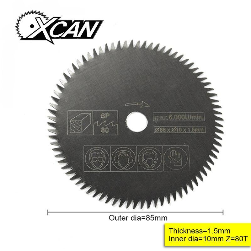 1pcs 85mm Bore 10/15mm Electric HSS Mini Circular Saw Mini Power Saw For Wood Mini Power Tools 80 Tooth