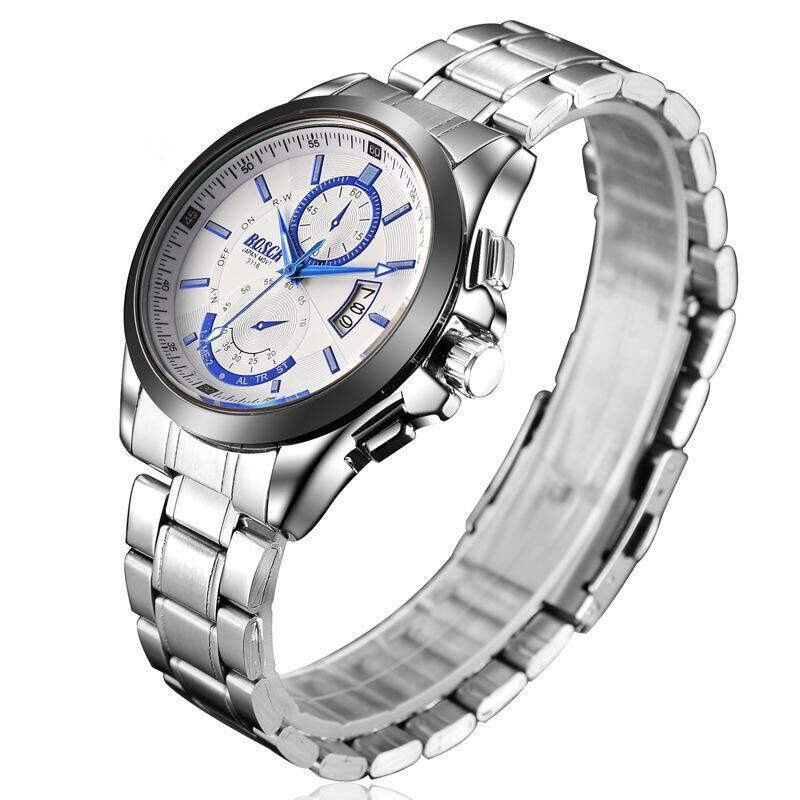 The elegant and luxurious men's business quartz watch shows a mature man's charm.
