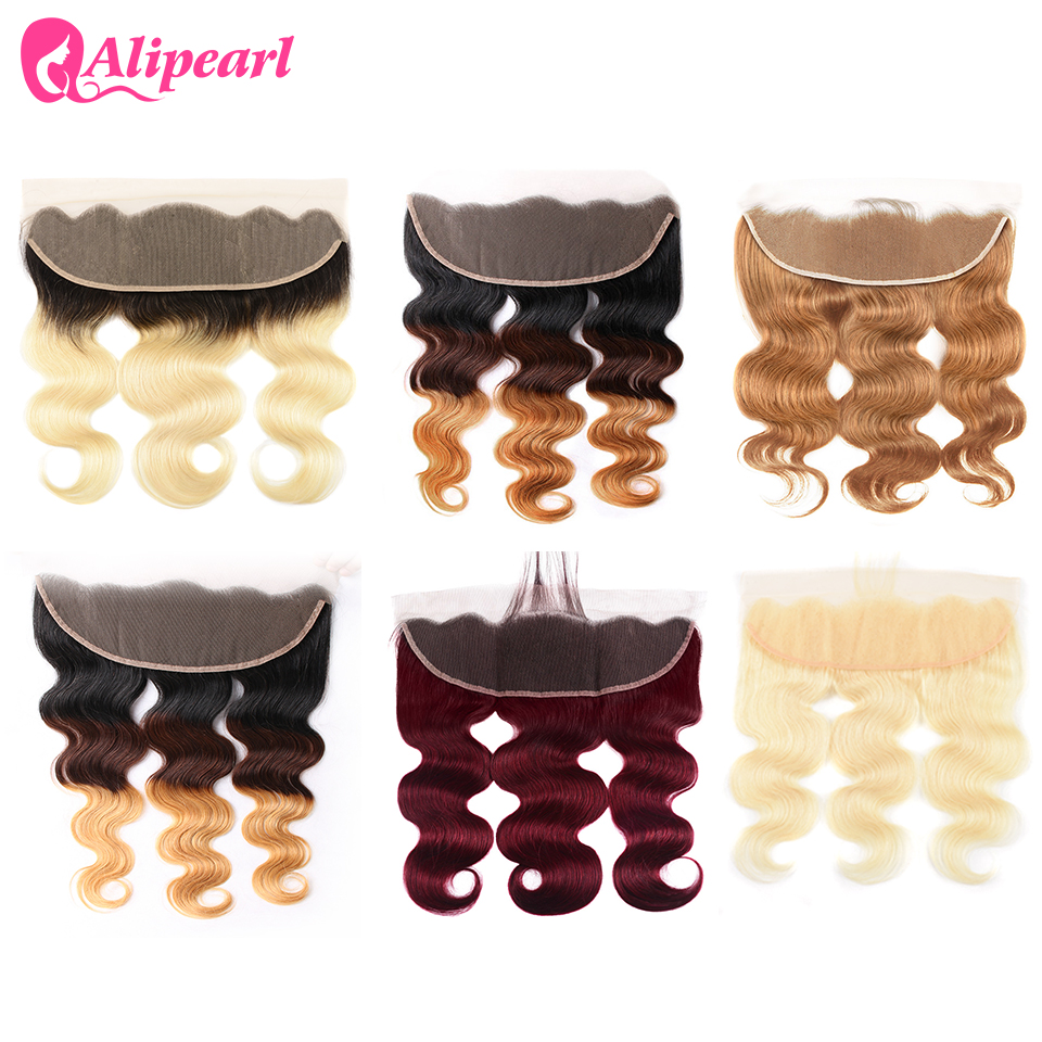 Ali Pearl 613 Blonde Pre Plucked Lace Frontal With Baby Hair 13x4 Lace Frontal Free Part 7 Colors Available 10-20 Inch Remy Hair
