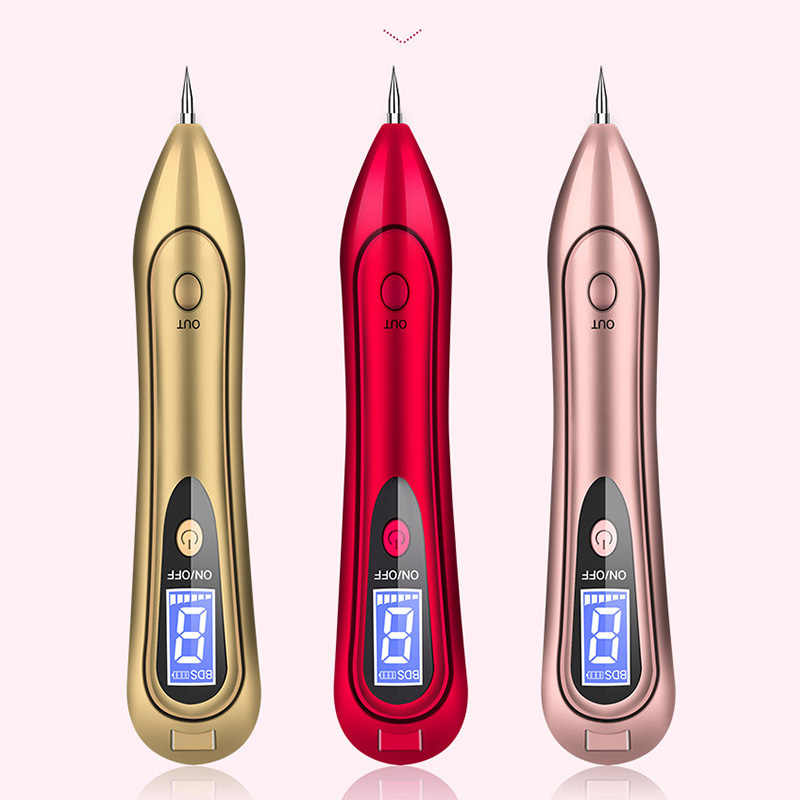 2018 New Fashion LCD Display Sweep Mole Dark Spot Remover Machine Face Makeup Tool Freckle Moles Removal USB Pen
