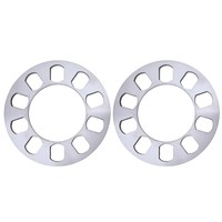 2 PCS Silverr Auto Aluminum Alloy Wheel Spacer Gasket 5 Hole 5mm CLSK
