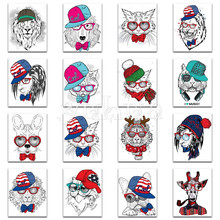 5D DIY Diamond painting Cross stitch Colorful Full Round embroidery Cartoon Square mosaic Animal dog cat #