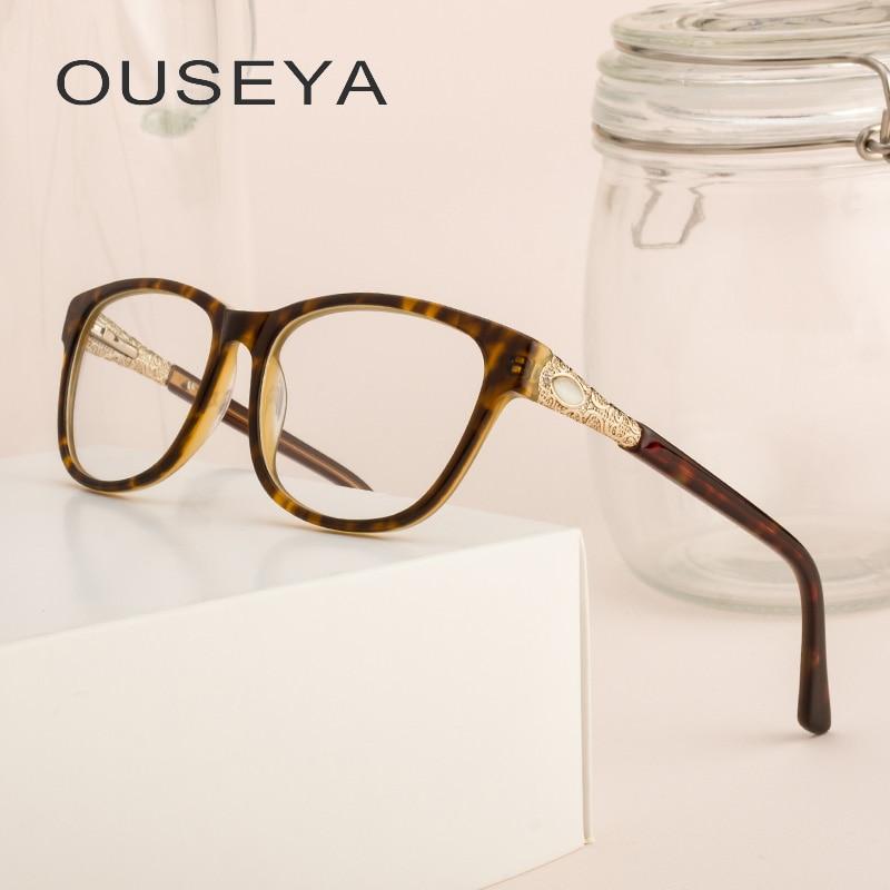 Acetat Luxus Lesebrille Frauen Vintage Edle Optische Rx Rezept Klar Retro Strass Brillen Rahmen # F8905