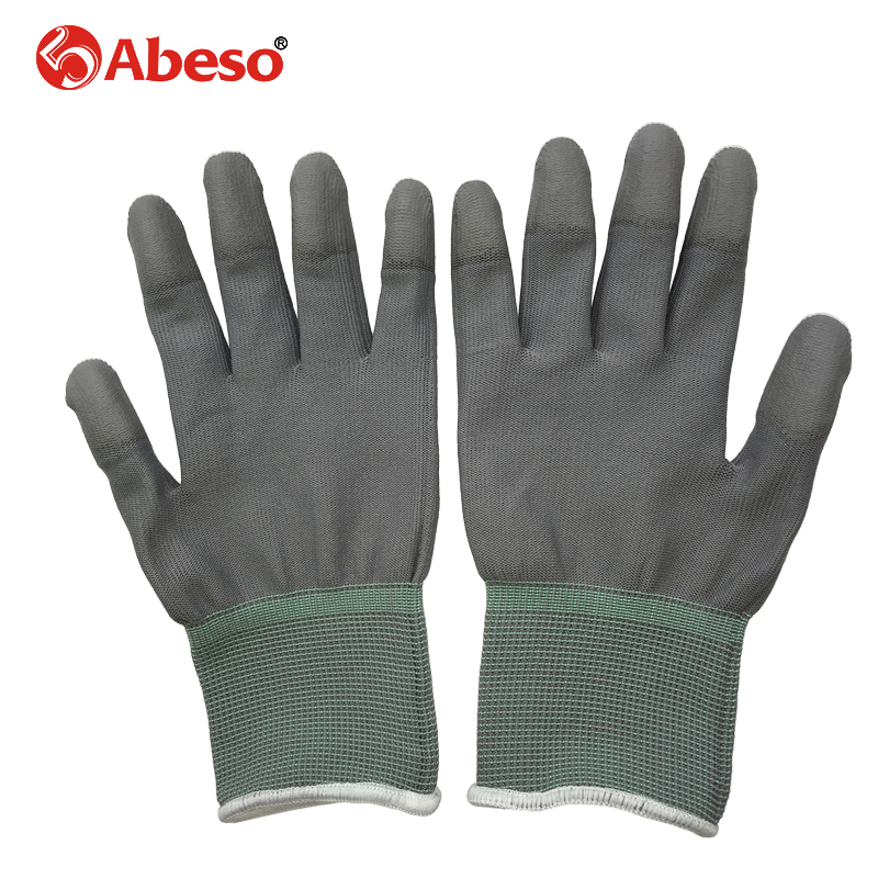 Abeso 1pair Antistatic Gloves Anti Static ESD Electronic Working Gloves pu palm coated finger PC Antiskid for Finger A3004 carbon fiber antistatic brush remove static electricity 1460x1400mm