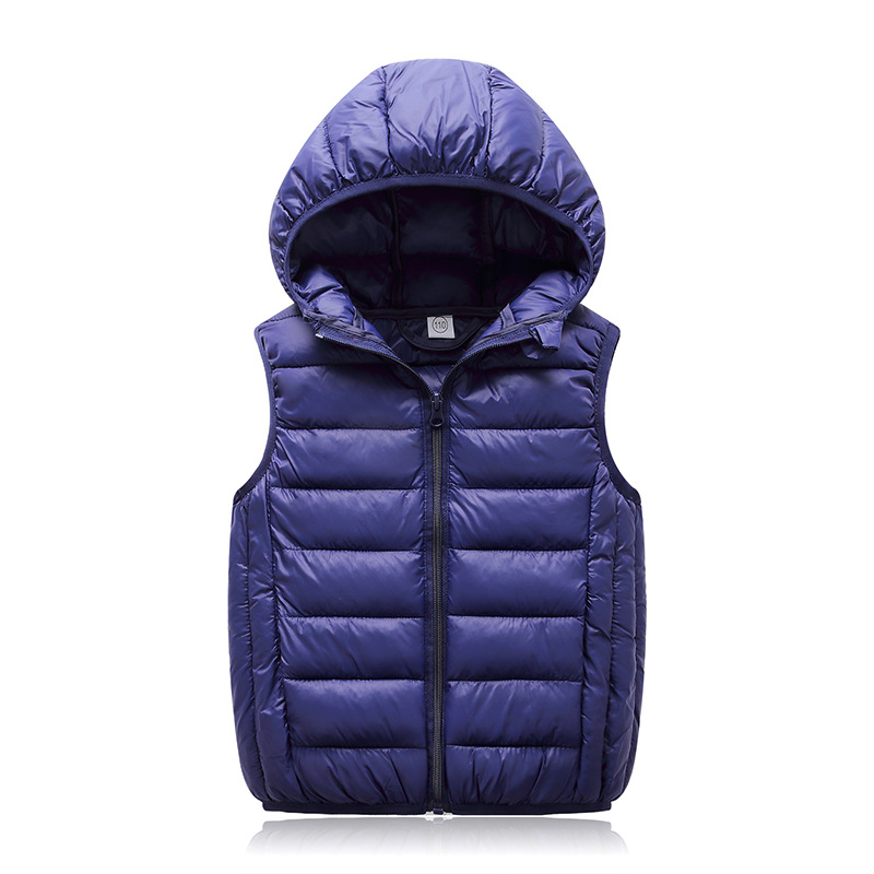 Hooded Child Waistcoat Children Outerwear Winter Coats Kids Clothes Warm Cotton Baby Boys Girls Vest For Age 3-12 Years Old