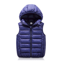 Hooded Child Waistcoat Children Outerwear Winter Coats Kids Clothes Warm Cotton Baby Boys Girls Vest For Age 3-12 Years Old цены онлайн