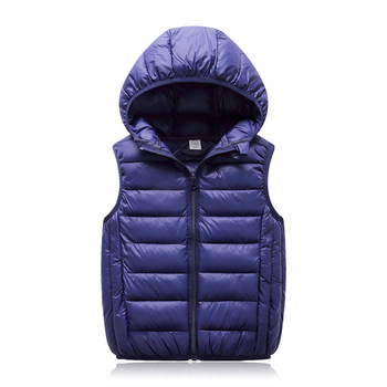 цена на Hooded Child Waistcoat Children Outerwear Winter Coats Kids Clothes Warm Cotton Baby Boys Girls Vest For Age 3-12 Years Old