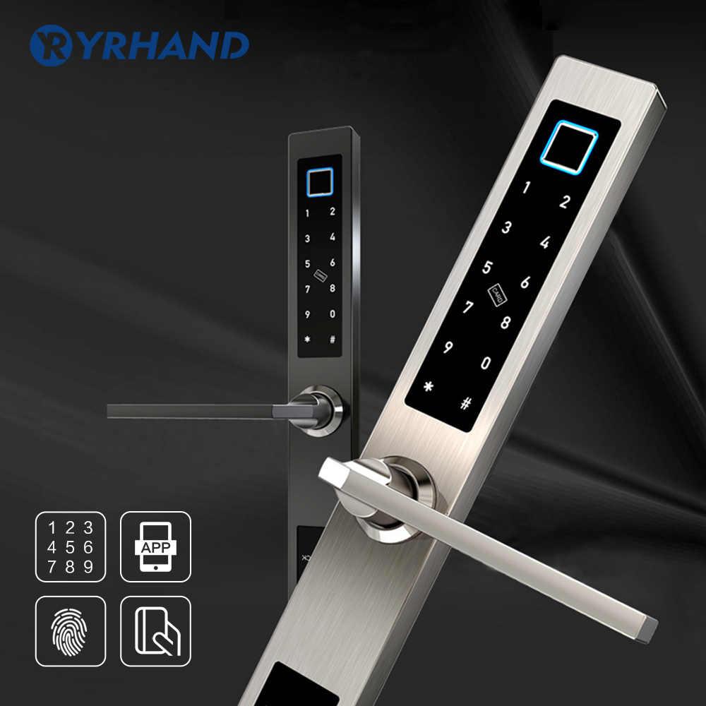 กันน้ำยุโรปลายนิ้วมือบลูทูธเข้าถึงอิเล็กทรอนิกส์สมาร์ทประตูล็อค RFID รหัสล็อคสำหรับอลูมิเนียมประตู