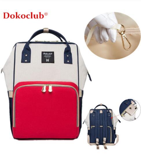 Dokoclub Nappy Bag Mother Baby Muli Function Diaper Bag Nursing Travel Bag Wet Waterproof Backpack Large Capacity Baby Care Bag