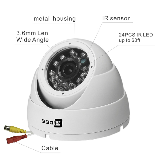 Home Security Camera System KIT Video Camera De Surveillance System Video 4CH HD Outdoor Night Vision 720P Buiten Dome[39] .