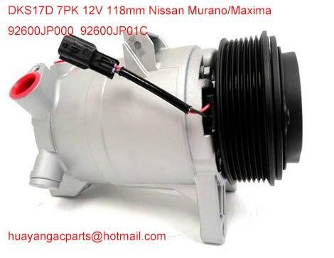 Factory direct sale auto parts ac compressor DKS17D for Nissan Murano 92600JP01C 92600 1JA1A 92600 JP00C