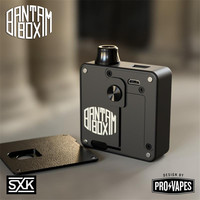 New arrival Authentic SXK Design Bantam mini Box Mod 2ml/5ml capacity 30w black sliver color 18350 BB mini mod vape vaporizer