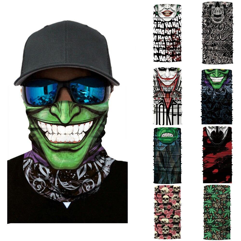 Cycling Motorcycle Head Scarf Neck Warmer Skull Face Mask Ski Balaclava Headband Mask Scary halloween Face Shield Outdoor(China)