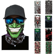Cycling Motorcycle Head Scarf Neck Warmer Skull Face Mask Ski Balaclava Headband Mask Scary halloween Face Shield Outdoor(China)