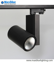 LED Track Spot Light 30W CREE COB Modern Ceiling Adjustable Rail Exhibition Lamp for Art Gallary Lighting