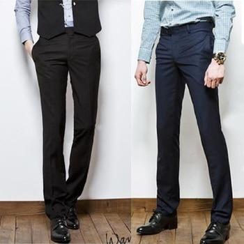 цена Mens dress pants Slim Fit Business Suit Pants Male Formal Pantalon office pants men  Popular  Straight pants онлайн в 2017 году