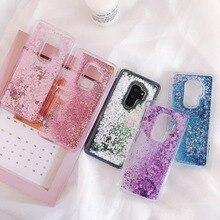 For Samsung Galaxy S9 Plus Phone Case Liquid Quicksand Silicone Cover S8 S7 Edge S6 mobile bag