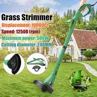 Meigar Foldable Electric Home Grass Trimmer Portable 400W Strimmer Cutter Lawnmower Heavy Duty Lawn Pruning