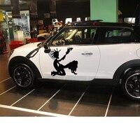 58cm X 58cm 2 X Hatchet Man Hatchet Girl Funny Graphical One For Each Side Car