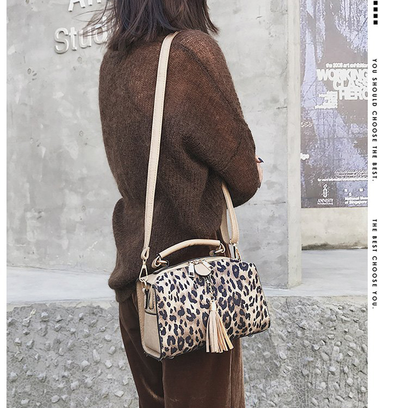 Nuova Inverno Leopardo Femminile Spalla Super khaki Borsa Delle Modo Versione Black 2018 Autunno Sacchetti Di Del Donne Selvaggio brown Boston E Coreana fuoco q7XxSOw