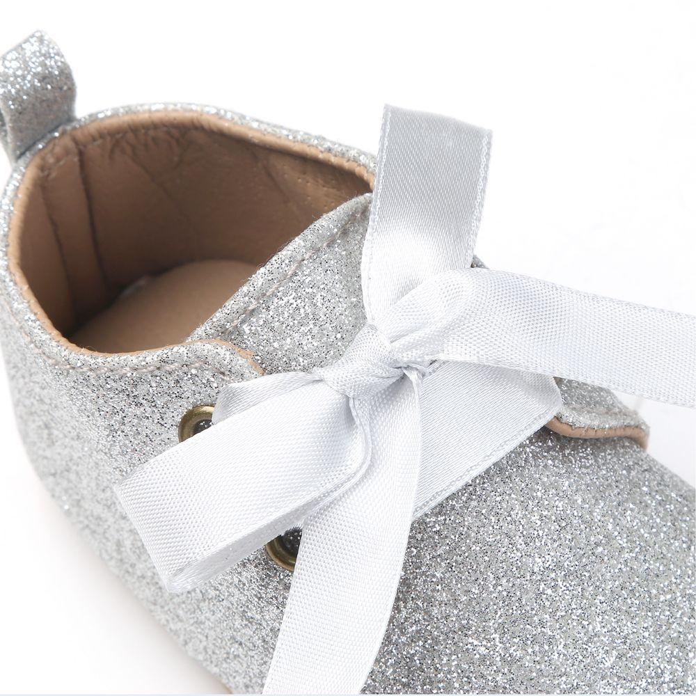 d28a1265382af Enfant en bas âge bébé chaussures nouveau né filles paillettes à semelle  souple princesse berceau chaussures Prewalker pour 0 18 mois bébé taille 11  cm 12 ...