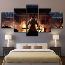 5 Piece SEKIRO Shadows Die Twice Game Poster Artwork Canvas Paintings Ninja Pictures Wall for Home Decor