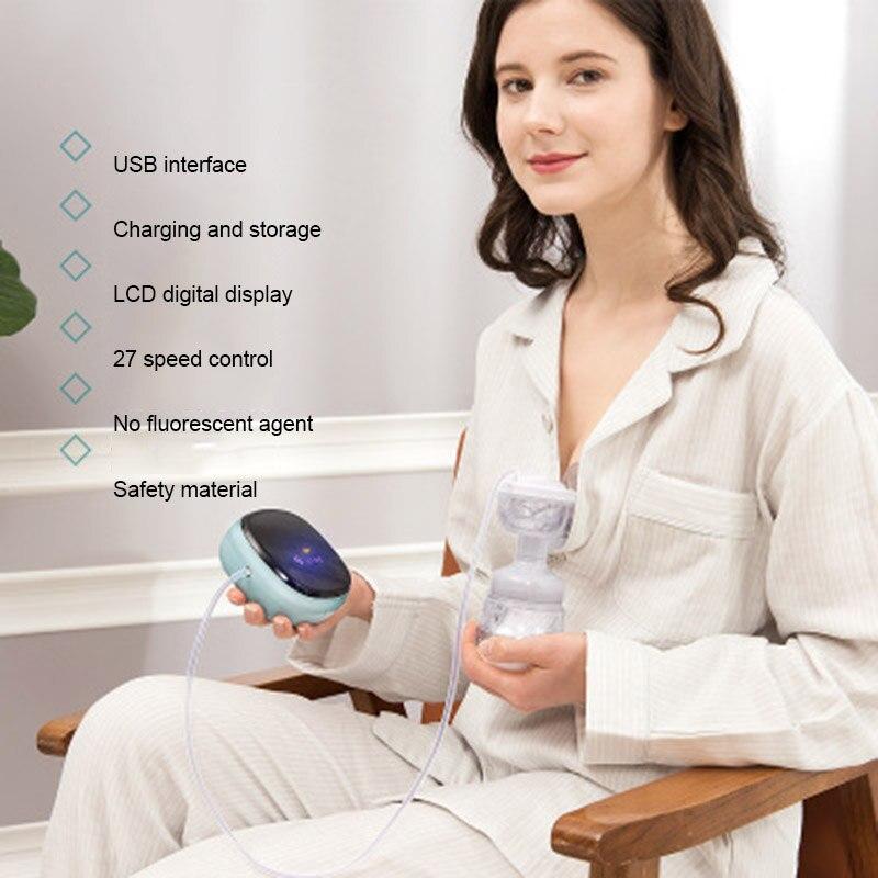 Умный Электрический молокоотсос, комфортный портативный молокоотсос, 3 модели, низкая мощность, прибор для грудного вскармливания ребенка