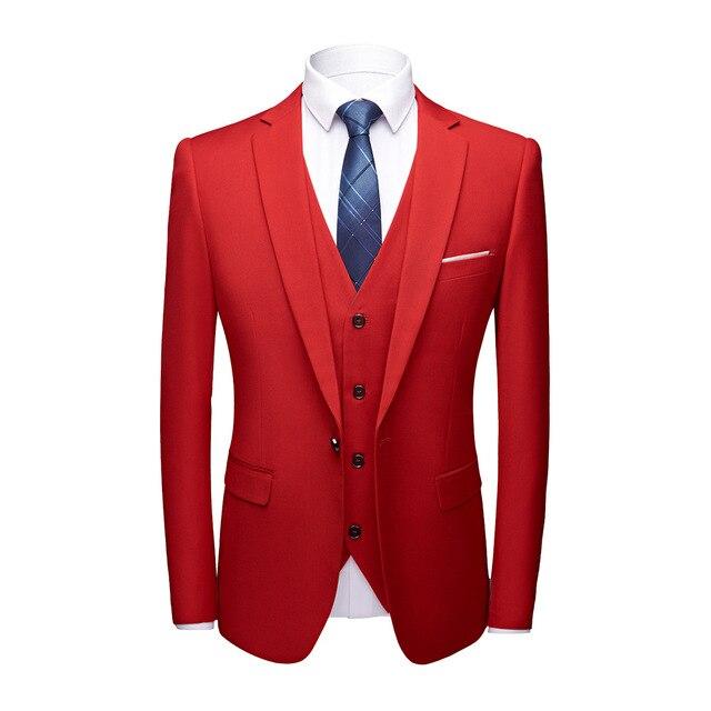 Suit men s 2018 new solid Multi-color optional large size professional suit  men s suit three-piece suit XZ038 23e891b4dd2d