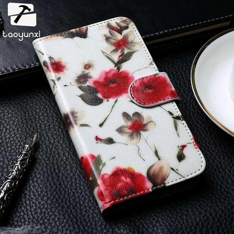TAOYUNXI PU Leather Case For Motorola Moto E4 Plus XT1770 XT1773 Moto E Plus European Version Phone Cover Flip With Card Holster