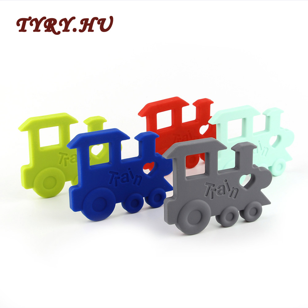 TYRY.HU Teether Silicone Train Baby Teething Toys Infant Chewable Pendant BPA Free Safe Beads For Baby Care 1Pcs Bracelets